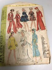 McCall's 2123 Vintage 1969 Sewing Pattern For Barbie & Other 11 1/2� Dolls
