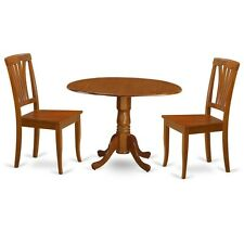 3 Pc Small Kitchen Table And Chairs Set-Kitchen Dining Nook And 2 Dining Chairs