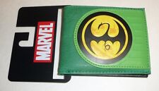 Marvel Comics IRON FIST Green Bifold Wallet Netflix Defenders Ironfist Logo NEW