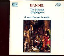 Naxos - Handel / The Messiah (Highlights) - Scholars Baroque Ensemble - MINT