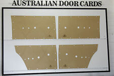 Ford Falcon XR Door Cards. Sedan & Wagon Blank Trim Panels
