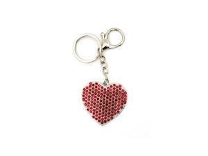 Crystal Stone Heart Shaped Pendant Keychain Handbag Charm ~ NEW!