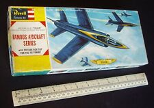 1960s Vintage Revell USA Grumman F11-F1 Tiger US Navy Blue Angels Aerobatic Team