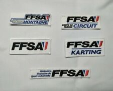 patch ecusson FFSA FEDERATION FRANCAISE DE SPORT AUTOMOBILE KARTING