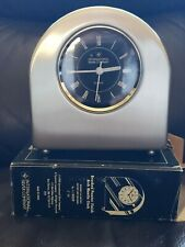 International Silver Co Brushed Pewter Finished Arch Mantle Clock (Unused)