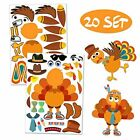 Make-A-Turkey Stickers Thanksgiving Party Games/Favors/Supplies For Kids