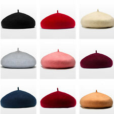 1Pc Women Sweet Winter Warm Wool Beret French Beanie Hat Cap Candy Color Random