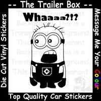DESPICABLE ME WHAAA MINION Funny Car/Window JDM VW VAG EURO Vinyl Decal Sticker