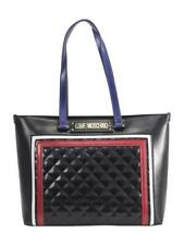 Love Moschino Women's Black/Multi Quilted Panel Tote Handbag