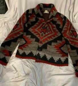 Denim & Supply Raulph Lauren Women's Sweater Red And Black Size XL