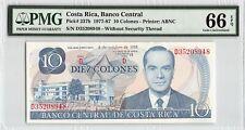 Costa Rica 1985 P-237b PMG Gem UNC 66 EPQ 10 Colones