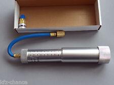 Kalibrierter Nachfüllkugelinjektor Öl Stoff UV Mittel + Schnellkupplung R134a