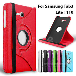 Samsung Galaxy Tab 3 Lite 7.0 inch Tablet Leather Rotate Smart Case Cover T110
