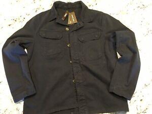 Michael Kors Men's Cotton Utility Shirt Jacket Midnight (L)$ 198