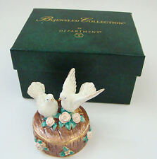 Department 56 Jeweled Trinket Hinged Box - Love Birds Jeweled Box