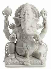 Ganesh Ganesha Lord of Prosperity & Fortune White Statue - WE SHIP WORLDWIDE