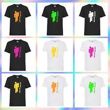 Adults Billie Eilish Inspired Fan T Shirt Neon Print Singer Summer Tee Top