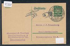 99560) Düsseldorf Kunst Jagd Fischerei Ausstellung SST 9.5.25, GA als Ausl.-DS
