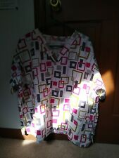 Ua Scrubs Womens Scrub Top Sz 2X Work Shirt
