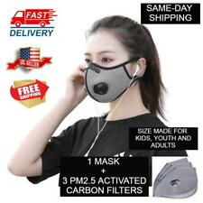 Sport Face Mask with PM2.5 Filter Activated Carbon Cycling for Kids Youth Adult