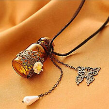 How cool is this? Younique Message In A Bottle Trinket Necklace Butterfly, Beads