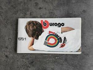 BURAGO 1/14 1/24 1/43 CATALOGUE MODELE ANNEES 1979 /1 TBE