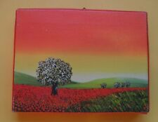 Small Landscape Print Canvas Picture Home Wall Room Decor A6 Signed