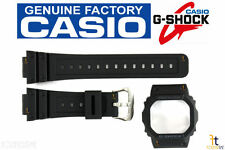CASIO G-Shock DW-5600SN-1 Original Black Rubber Watch BAND & BEZEL Combo