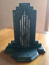 Antique Art Deco architecture skyscraper style Cast Iron Bookend.
