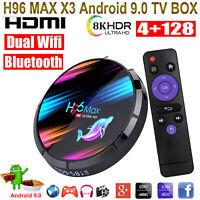 H96 MAX X3 8K Android 9.0 4+128G Dual WIFI BT4.0 TV BOX 3D USB3.0 Media Player