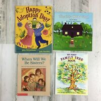 Lot 4 Kids Picture Books Adoption Theme Happy Adoption Day Family Tree