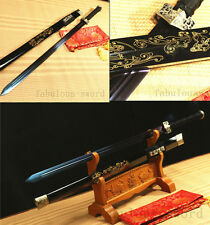 42' BLUE FULL TANG 1060 CARBON STEEL BLADE DRAGON CHINESE HAN 汉剑 SWORD