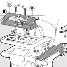 Portapacchi GIVI SR694 per Bauletti Monokey BMW R1150GS R 1150 GS 2000 2003