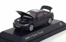 BMW 4ER 3.8I SERIES COUPE F32 2013 BLACK METAL I-SCALE 80422318856 1/43 NOIR