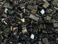 50g Black Glitter Glass Mosaic Tile 10mm x 10mm x 4mm Indoor Use, Supplied Loose