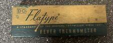 Vintage Bd Flatype Glass Thermometer in Plastic tube And Box. Great Condition