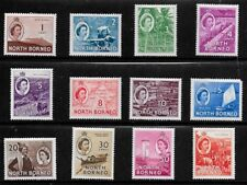 North Borneo 1954 QEII Pictorials SS to $1  -  MLH
