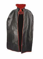 Escalofriante Halloween Vampiro Negro Capa Infantil con Soporte Cuello Alto