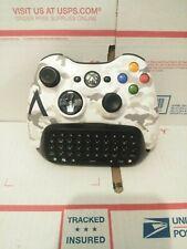 Original Wireless Controller SNOW White Camouflage AN-Xbox 360 w/Chatpad