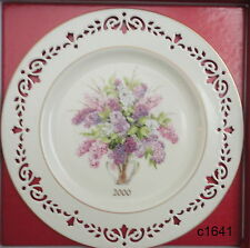 Lenox Colonial Bouquet Plate 2000 New Hampshire mint in box Sixth In Series