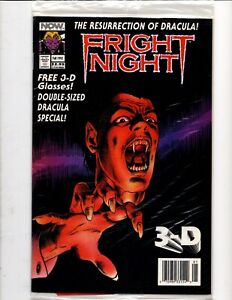 FRIGHT NIGHT RESURRECTION of DRACULA NOW Comics POLYBAGGED 3-D GLASSES NEWSSTAND