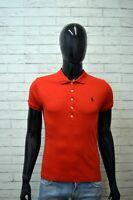 Polo Maglia RALPH LAUREN Uomo Size S Maglietta Manica Corta Shirt Slim Fit Rossa