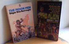 2 Vintage Science Fiction Paperbacks - The Alien (1966) & The Moon Men (1975)