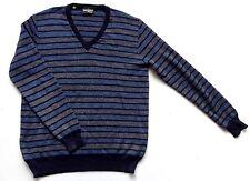 "Men's Vintage 80's French Striped Jumper Retro Medium 40"" Chest"