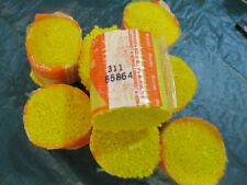 8 Packages of Vintage Bucilla #311 Bright Yellow Acrylic Latch Hook Yarn