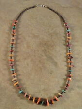 Santo Domingo Mixed Spiny Oyster Turquoise & Heishi Necklace