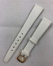 Kreisler Lizard Grain Calfskin 14mm White Non-Stitched Leather Watch Band W159