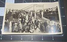 BROOKLYN NY Wood PIER Shriner Convention Dock Ship Yard Vintage Snapshot PHOTO