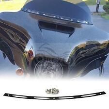 Black Deep Cut Slotted Batwing Windshield Trim For Harley Touring 1996-2013