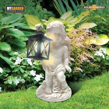 Garden Angel with Lantern Solar LED Light Decorative Ornament Secret Gift Resin